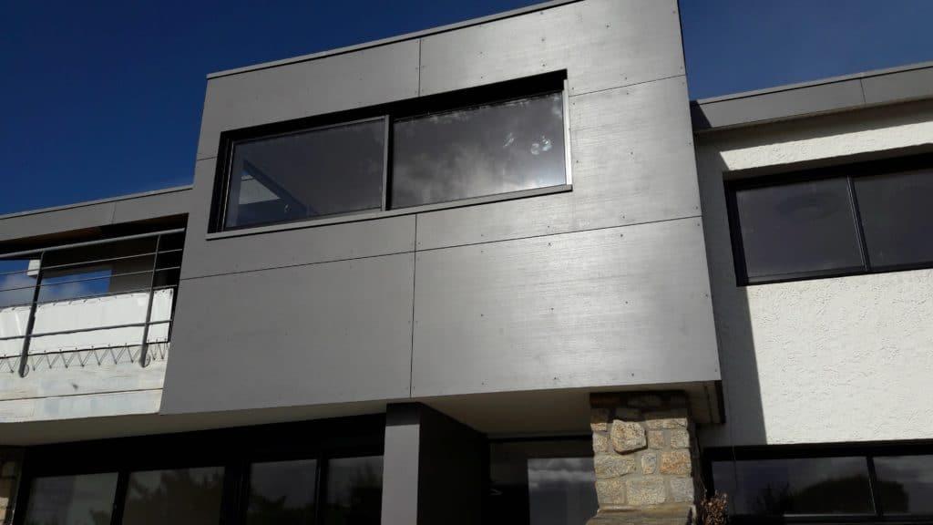 maison individuelle guidel plages - bardage façade Copanel