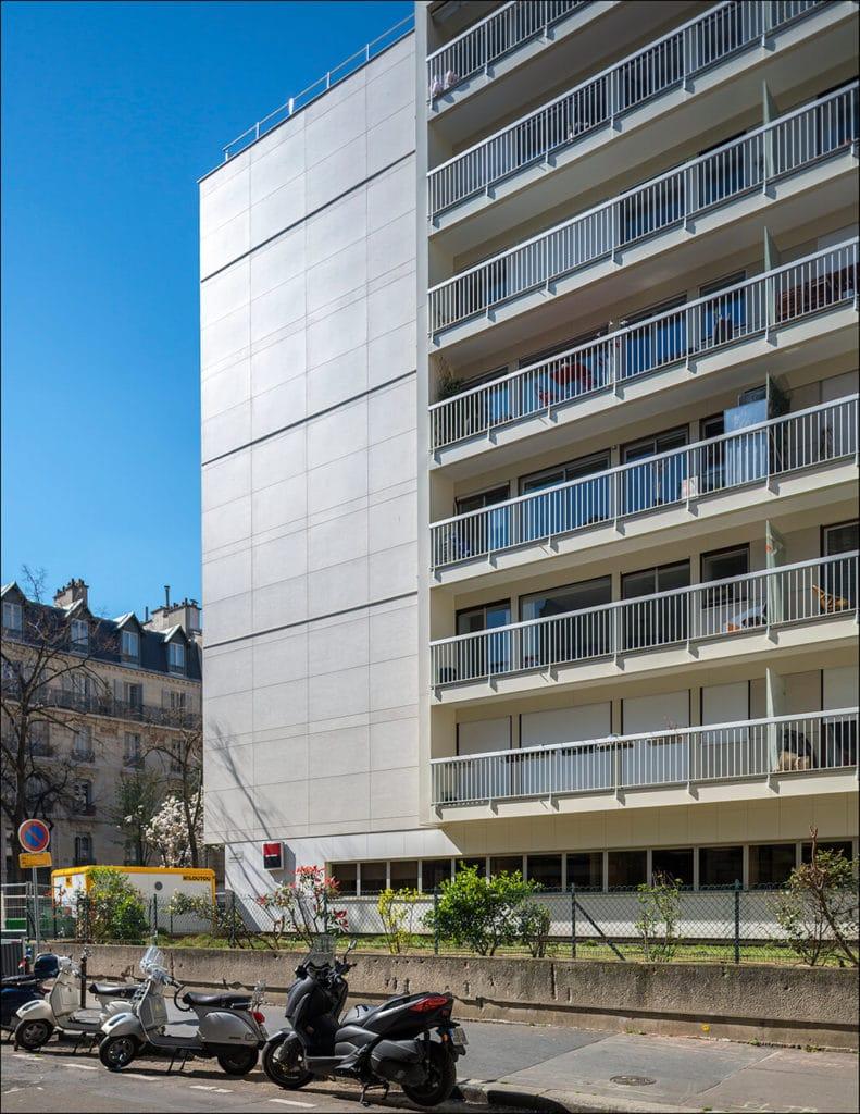 bardage fibro ciment sur des bâtiments